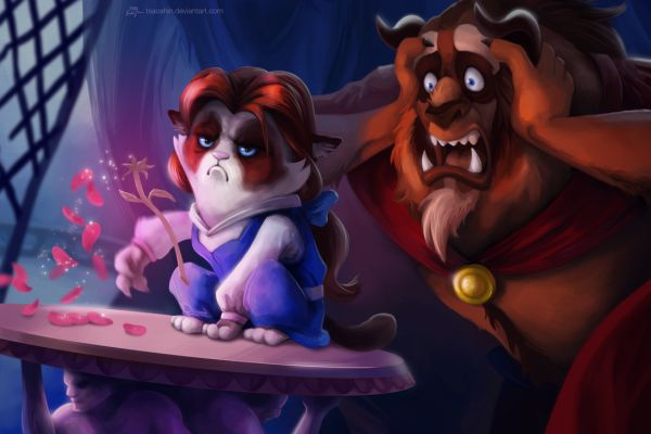 disney-grumpy-cat-meme-by-eric-proctor-beauty-and-beast