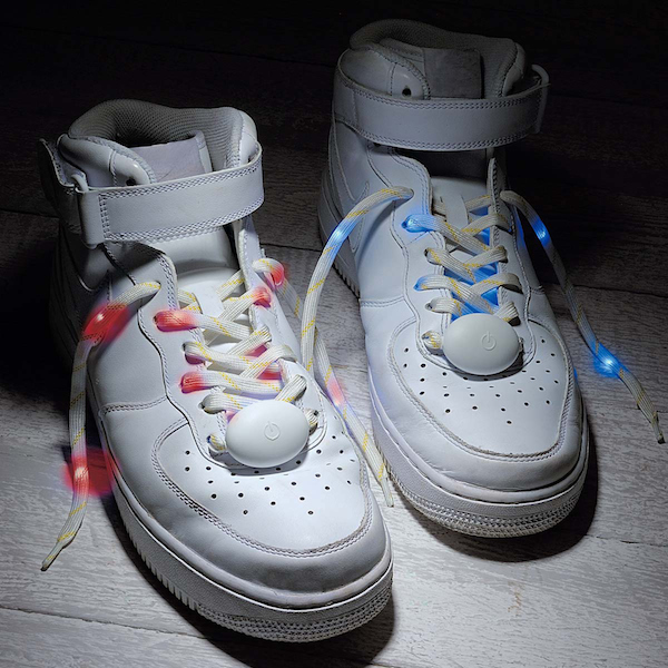 shoelaces lights led blue