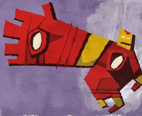 Abstracted Superheroes by Jonathan Edwards Iron Man