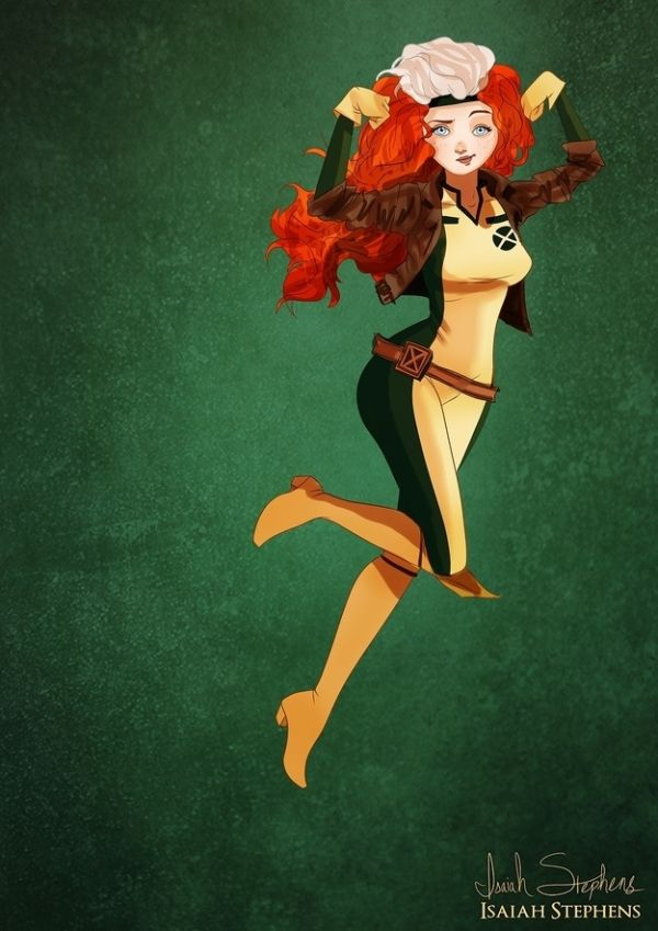 Disney Heroes Dressed Up In Awesome Halloween Costumes by Isaiah Stephens Merida