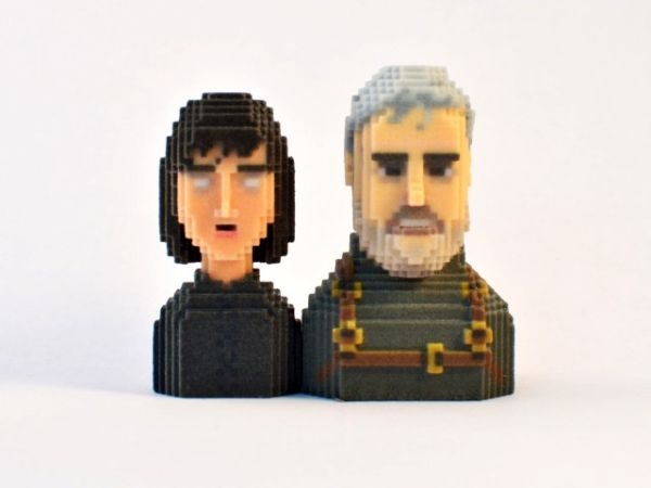 Game of Thrones in Pixels by Leblox Bran & Hodor