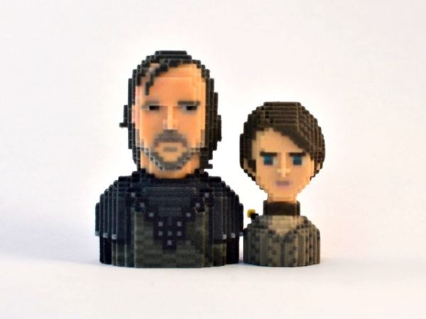 Game of Thrones in Pixels by Leblox Cleagane & Arya