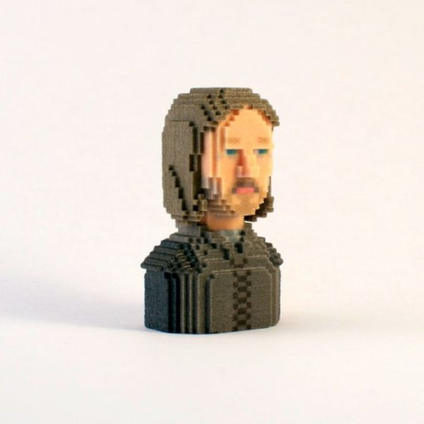 Game of Thrones in Pixels by Leblox Eddard Stark