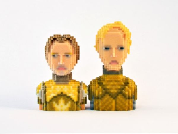 Game of Thrones in Pixels by Leblox Jaime & Brienne