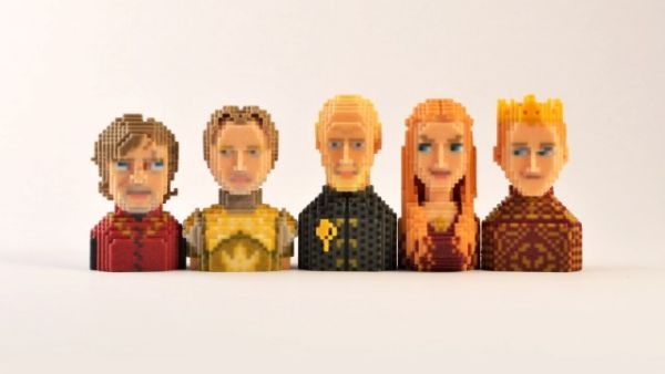 Game of Thrones in Pixels by Leblox  Lannister Family