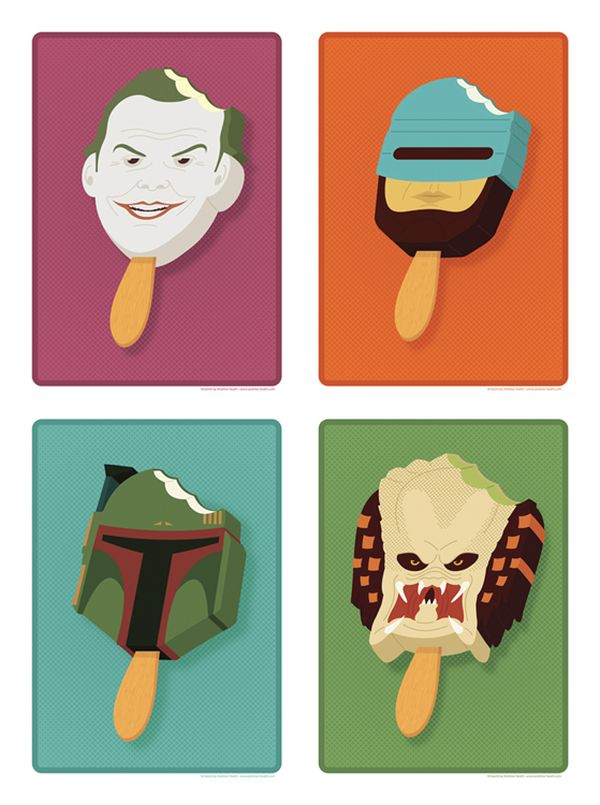 Pop Culture Popsicles illustration by Andrew Heath 01