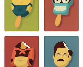 Pop Culture Popsicles illustration by Andrew Heath 05