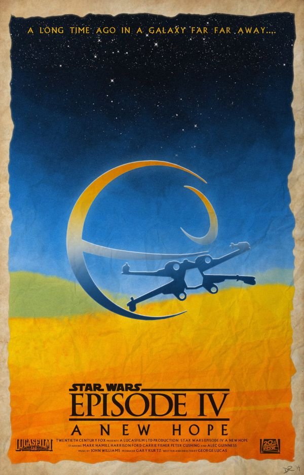 Star Wars Episode Poster by Daniele Red Rossini IV