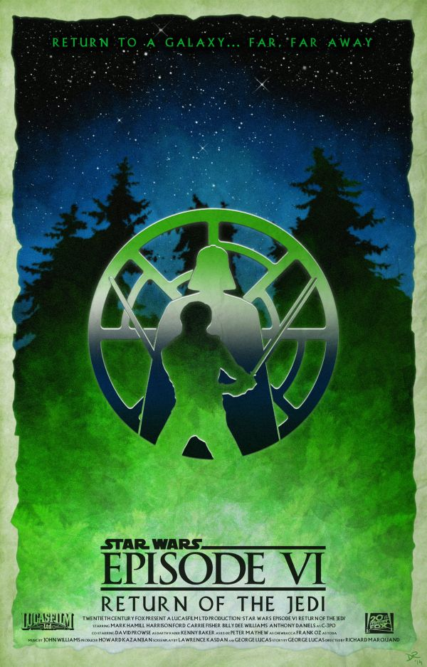 Star Wars Episode Poster by Daniele Red Rossini VI
