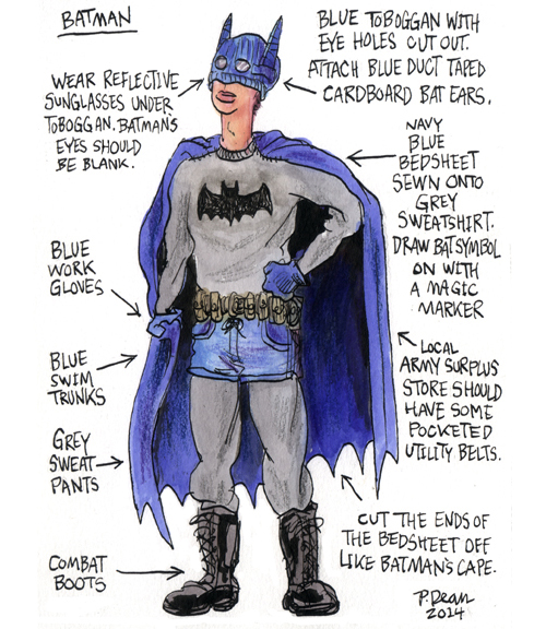 half assed cosplay ideas by patrick dean batman