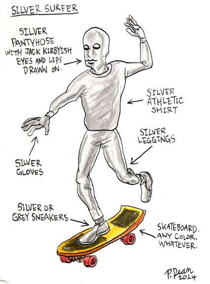 half assed cosplay ideas by patrick dean silver surfer