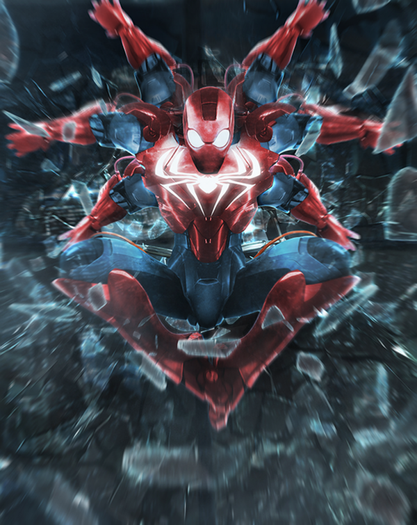 Insane Iron Man mash up by BossLogic Spider man