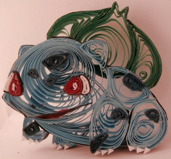 Paper Quilling Starter Generation One by Aimie Holdorf Bulbasaur