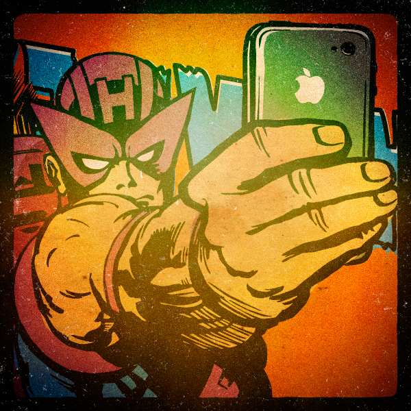 Superhero Selfies Hawk Eye by Butcher Billy