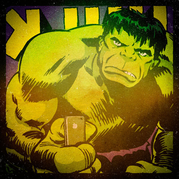 Superhero Selfies Hulk by Butcher Billy