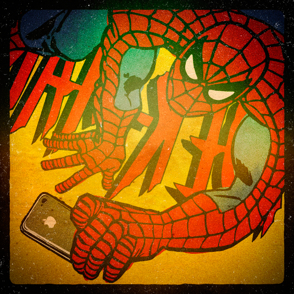 Superhero Selfies Spidey by Butcher Billy