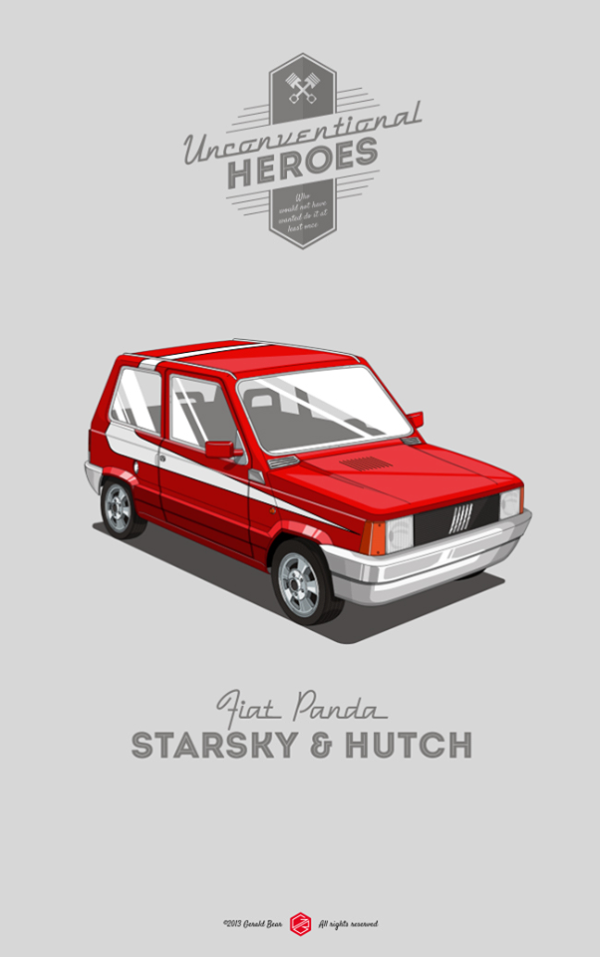 Unconventional Heroes by Gerald Bear Fiat Panda