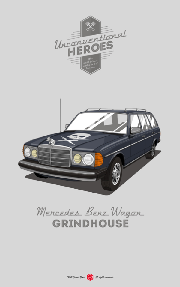 Unconventional Heroes by Gerald Bear Mercedes Benz Wagon