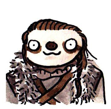 game-of-thrones-sloths-jon-snow