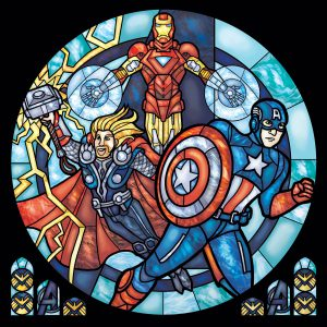 Iconic Stained Glass Avengers 2