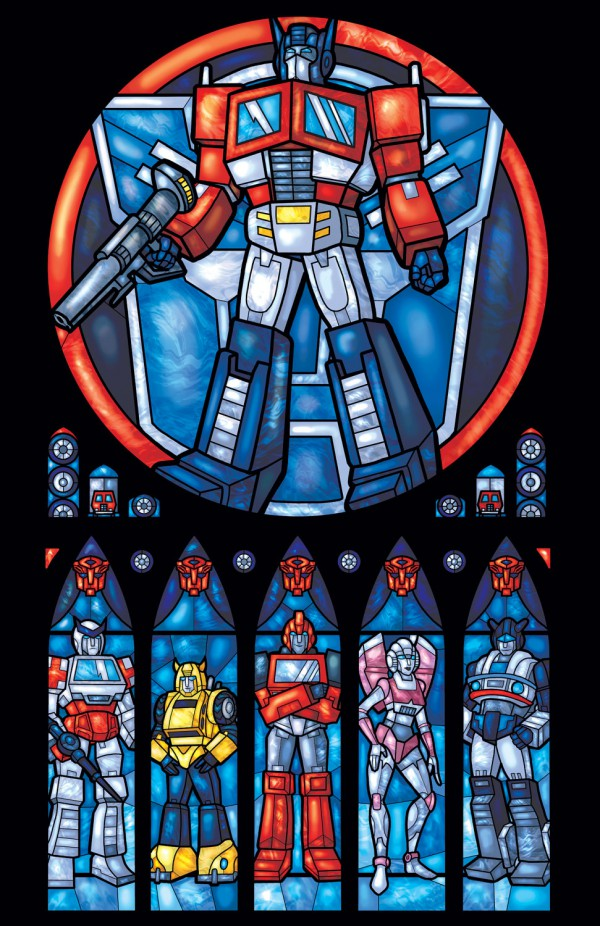 Iconic Stained Glass Transfomers
