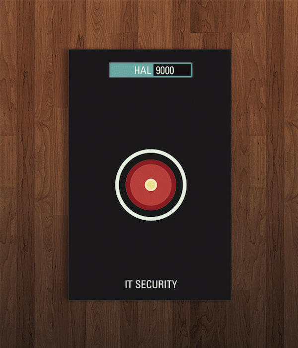 Pop Culture Icon Business Cards Hal 9000