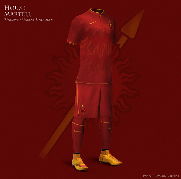 Game of Thrones World Cup Nike Concepts House Martell