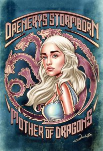 Iconic Series and Movie Heroes daenerys game of thrones