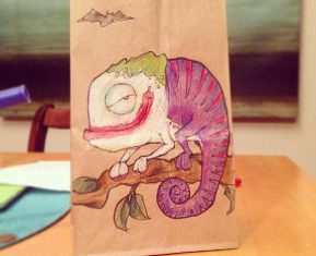 Lunch Bag Art Joker