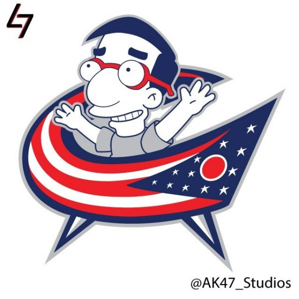 Simpsonized NHL Logos Milhouse Simpson