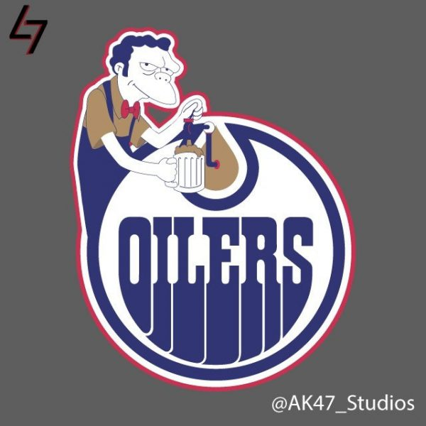 Simpsonized NHL Logos Moe Simpson