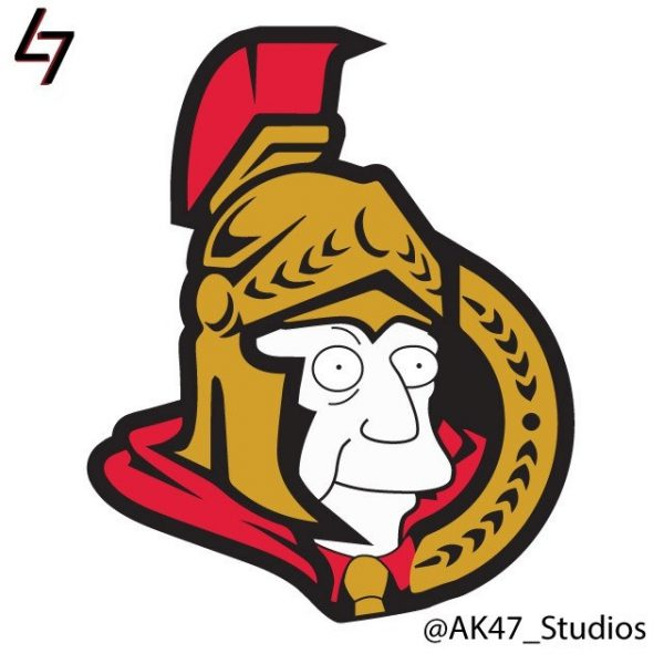 Simpsonized NHL Logos Skinner Simpson