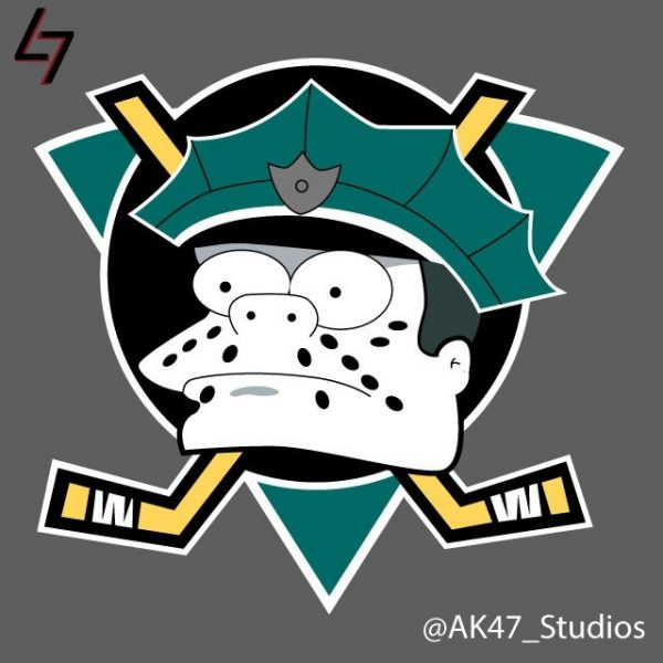 Simpsonized NHL Logos Wiggum Simpson