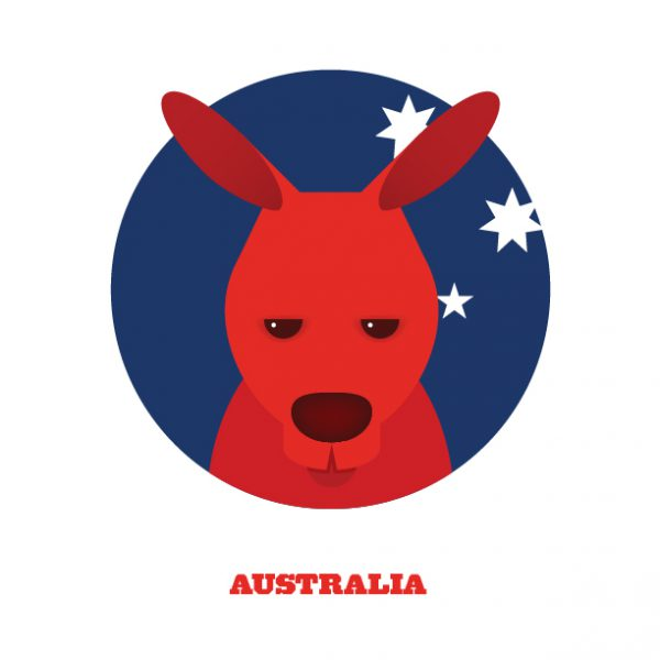 World Cup Postcards Australia