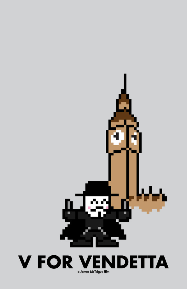 8-Bit Movie Posters by Eric Palmer v for Vendetta