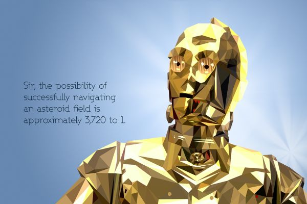 Star Wars Low Poly Portraits C3PO