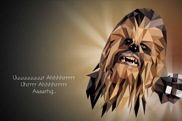 Star Wars Low Poly Portraits Chewbacca