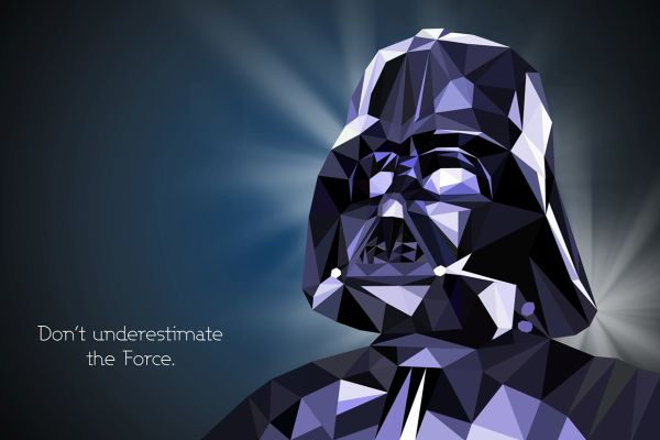Star Wars Low Poly Portraits Darth Vader