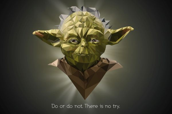 Star Wars Low Poly Portraits Yoda
