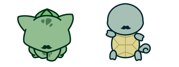 Gentlemon by Nicholas Poulos Blubasaur Squirtle