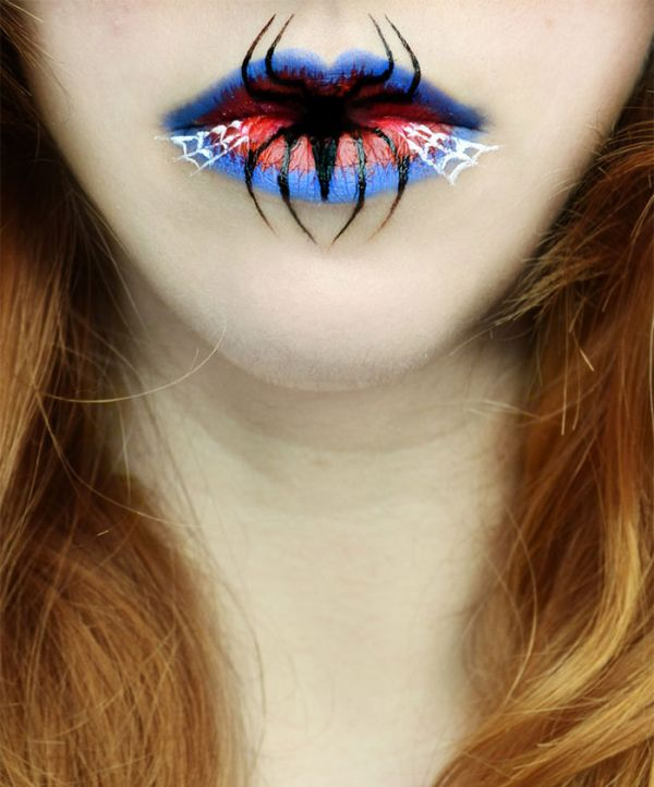 Halloween Lip Makeup Designs by Eva Senín Pernas 01