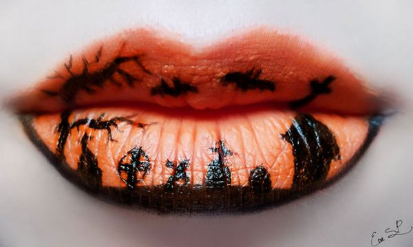Halloween Lip Makeup Designs by Eva Senín Pernas 02