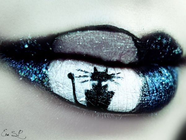 Halloween Lip Makeup Designs by Eva Senín Pernas 06
