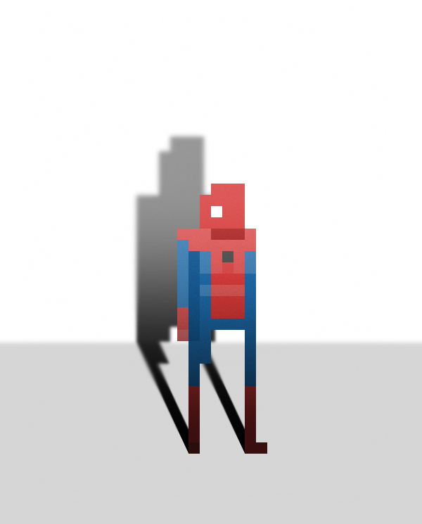 Pixel Superheroes by Ercan Akkaya Spiderman