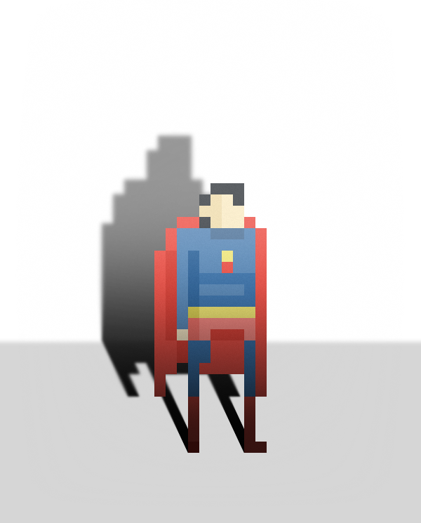 Pixel Superheroes by Ercan Akkaya Superman