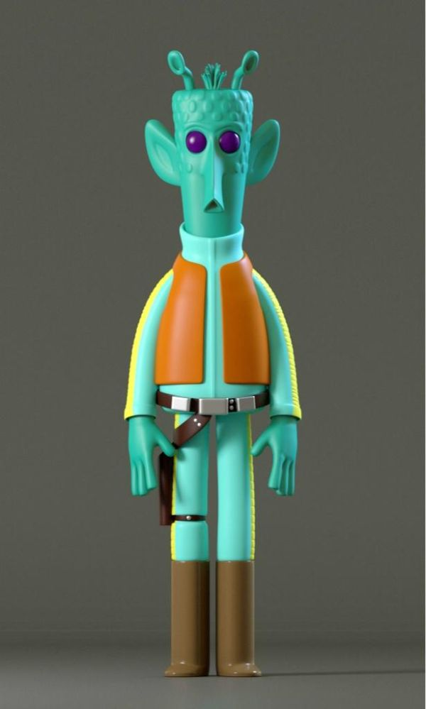 Star Wars Digital Vinyl Caricature by Evil Corp Greedo