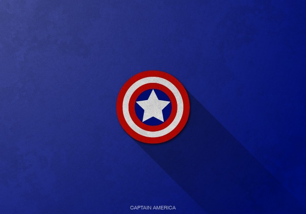 Superhero Logos by Rami Hoballah Captain America