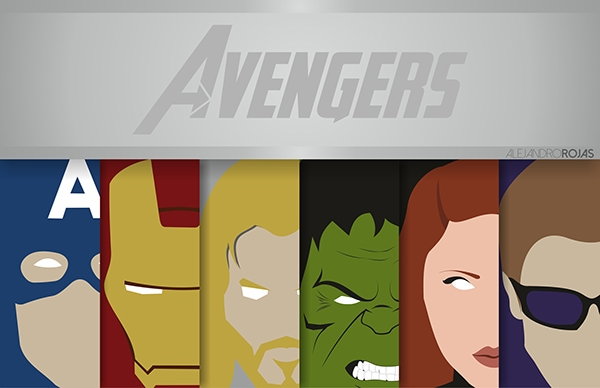 Avengers Marvel Heroes by Alejandro Rojas All