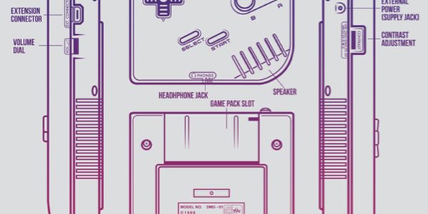Classic Console Blueprints Designs by Adam Rufino GameBoy