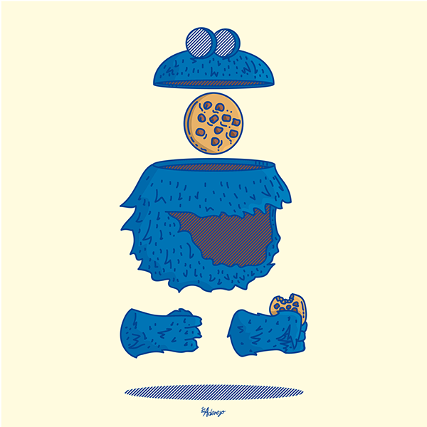Famous Hungry by Sr. Aderezo Cookie Monster